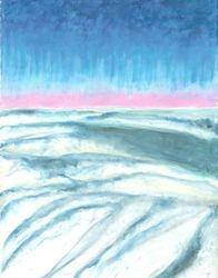 Cloudscape, Oil Pastel, 11x14, Original Sold