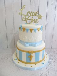 First Birthday and Christening Cake