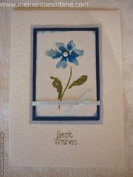 Single Blue Flower Card