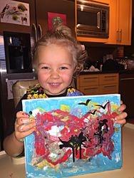 Our little artist!