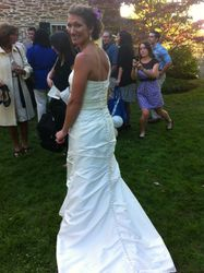 Emily's Wedding Dress, Back (On the Day)