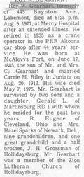 Gearhart, Roy W. 1977