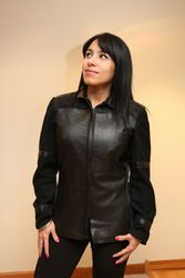 Leather and wool