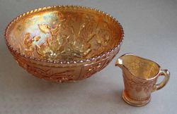 marigold Reisling creamer jug size comparison with a fruit bowl
