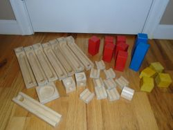 Varis Wooden Marble Run - $30