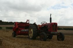 David Brown Tractor and baler