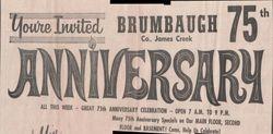 75th Anniversary of Brumbaugh Store News Ad