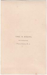 Chas B. Higgins, photographer of Frenchtown, NJ - back