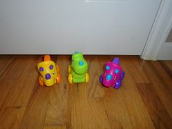Fisher Price Colorful Dino Rolling Dinosaurs- 3 - $8