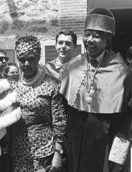 Mandela and Winnie at the Honoris Causa Computense
