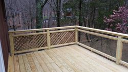 10 X 15 Pressure Treated Deck With Glass Rails 2