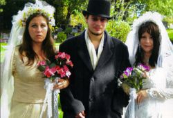 Both brides, Jannell  and Dina with