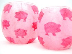 Pale Pink and Shocking Pink Pigs
