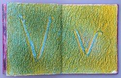 letter V page