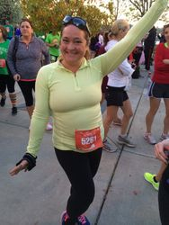 Amanda 5 month later, 40lbs down, 1/2 marathon