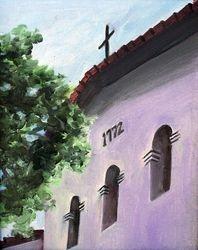 San Luis Obispo Mission (oil original)