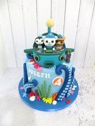 Joseph's 4th Birthday Submarine Cake