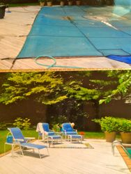 Swimming Pool Area Before... and After.