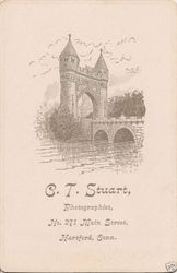 C. T. Stuart, photographer of Hartford, CT - back