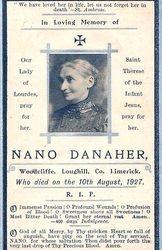 Mortuary Card Nanao Danaher