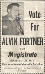 Alvin Fortner for Magistrate