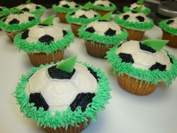 green shark soccer team cupcakes $3.50/ea