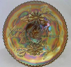 "FENTON, Norris N. Smith Real Estate & Insurance Rome GA, 6"" plate - amethyst"
