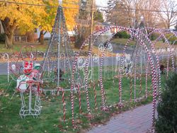 Candy Cane Walkway with Soldier