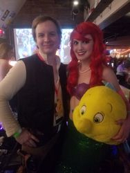 Han Solo and Ariel with Flounder