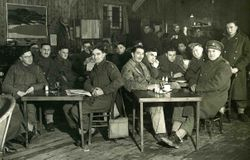 Troops relaxing in a YMCA canteen