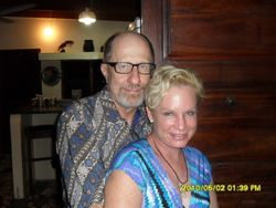 Heidi and Rolland at their home in Pemba