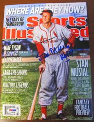 Stan Musial Signed 8/2/2010 Sports Illustrated PSA/DNA
