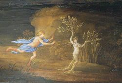 Jacquet,Harpsichord with Apollo and Daphne on the lid, 1652, Ringling Museum