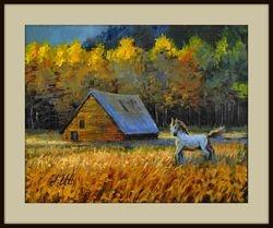 Autumn on meadow.