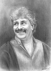 Ustad Rashid Khan Painting