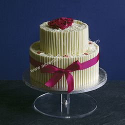 White Chocolate Wedding Cake