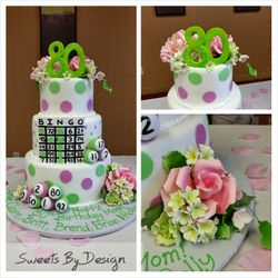 Bingo Birthday Bash Cake