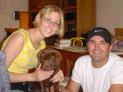 Tucker with his forever family, 2004