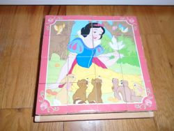 Melissa & Doug Disney Princesses Wooden Cube Puzzle - 6 in 1 - $8