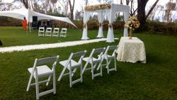 folding chairs for wedding