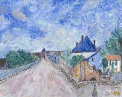 Interpretation of Street in Moret by Alfred Sisley