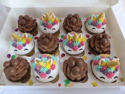 Unicorn and malteser Cupcakes