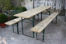 #28/001 VINTAGE GERMAN BEER GARDEN SETS