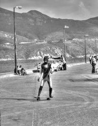 A boy skateboarding. Hout Bay, South Africa