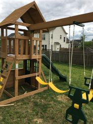 Big Backyard F23220 Windale swing set assembly in new market maryland