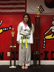 05/16/2015 S. Pavlou TKD Championships  Hannah Arellano   2nd Place Forms  1st Place Sparring