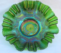 Chrysanthemum 3 in 1 edge bowl green
