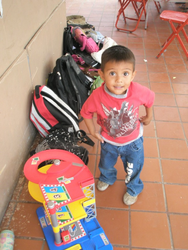 The youngest boy at the orphanage 1 yr old