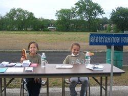 Registration Desk - Kayla and Taylor