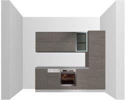prospetto cucina - rendering